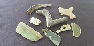 Super lot of Ancient Metal detecting finds all found in England uncleaned. L79p