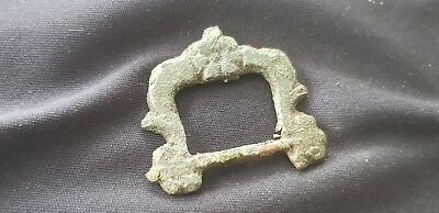 Stunning post Medieval Tudor Bronze buckle uncleaned condition from England L153