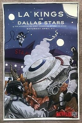 LA Kings Netflix Lost in Space NHL Poster Limited Edition Giveaway Dallas Stars