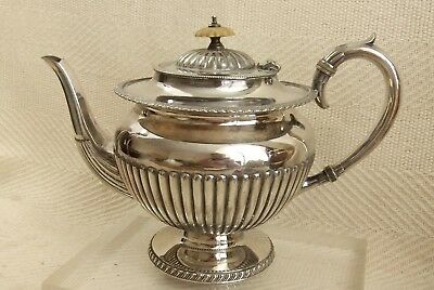 Lovely Victorian Silver Plated Decorative Teapot Elegant Design N BROS S