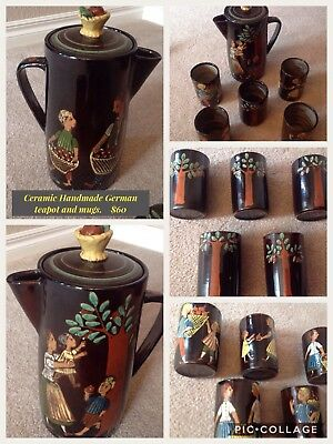 Vintage German Tea Pot And Cups
