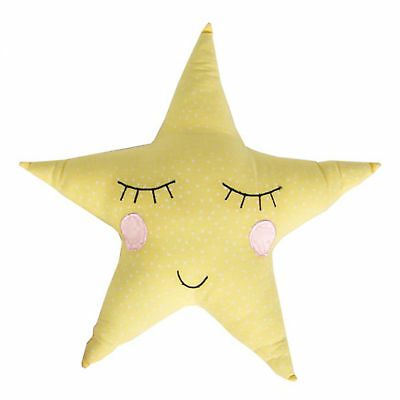 Sass & Belle Star Shaped Cushion YELLOW Unisex Childrens Nursery Bedroom