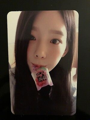 SNSD Taeyeon Official Photocard-Holiday night Photocard