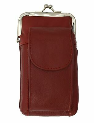 Marshal Leather Red 100's Cigarette Snap Case Coin Purse