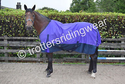 50g Horse Pony Turnout Rug Purple Navy