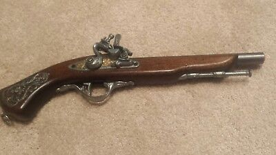 18th Century NON-FIRING Replica Flintlock Pistol Wall Hanger/Decorative