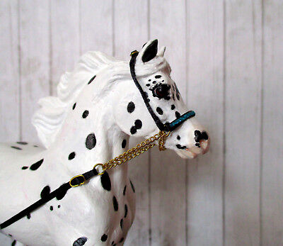 Miniature Horse Cable Show Halter for 1:9 (Breyer Traditional) Model Horse: Blue