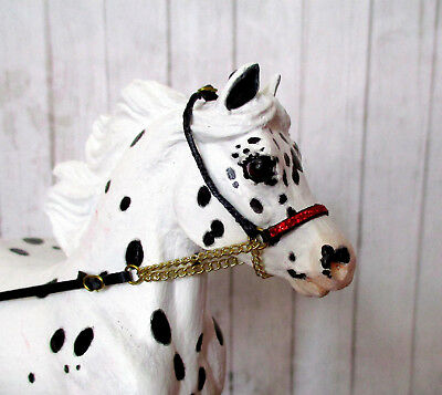 Miniature Horse Cable Show Halter for 1:9 (Breyer Traditional) Model Horses: Red