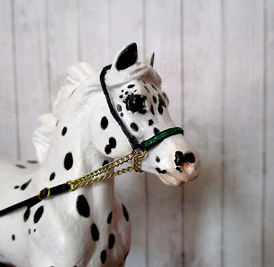 Mini Horse Cable Show Halter for 1:9 (Breyer Traditional) Model Horse: Green