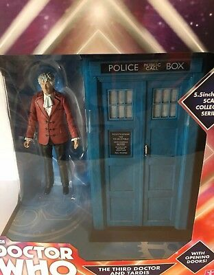 """Doctor Who The Third 3rd Doctor & TARDIS 5.5"""" Collector Figure Set BNIB"""