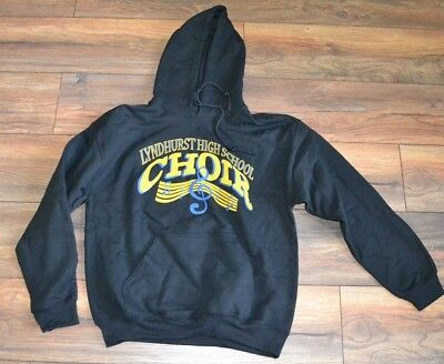 Lyndhurst High School Choir Hoodie Hooded Sweatshirt Kangaroo Pocket Size Medium