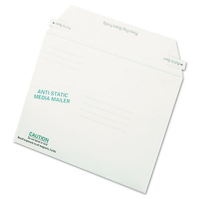Quality Park Antistatic Fiberboard Disk Mailer 6 x 8 5/8 White Recycled 25/Box