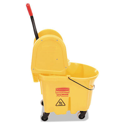 Rubbermaid Commercial Wavebrake 35 Quart Bucket/Wringer Combinations Yellow