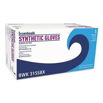 Boardwalk Powder-Free Synthetic Vinyl Gloves Small Cream 4 mil 100/Box 315SBX