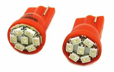 LED bulbs(2) #194 & #168 dome light 7 red LEDs 12V direct replacement
