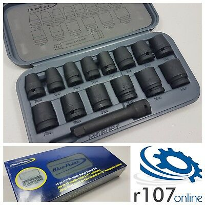 "Blue Point 15pc 1/2"" Impact Socket Set, Incl. VAT. As sold by Snap On."