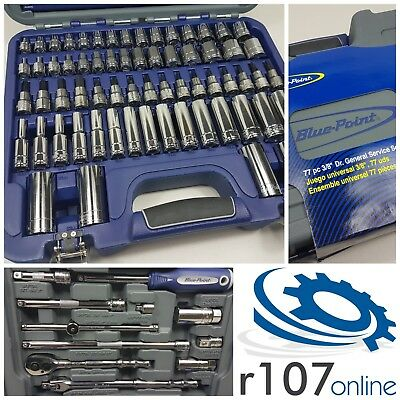 "Blue Point 77pc 3/8"" Socket Set, Incl. VAT. As sold by Snap On."