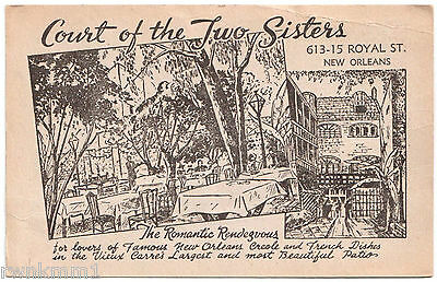 AK US USA Post Card Court of the two Sisters New Orleans ungelaufen