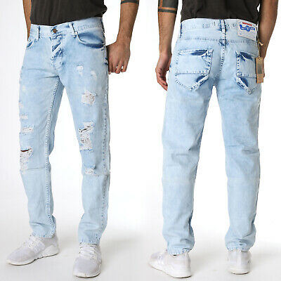 SERSERI | Jungen Jeans Hose Boys | Slim Fit - Destroyed | Hellblau