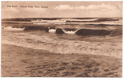 AK US USA Post Card The Surf OCEAN CITY New Jersey ungelaufen v. 1945