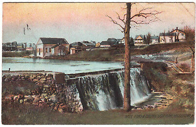 AK US USA Post Card Mill Pond & Electic Light Plant MIDDLETOWN gel. 1908