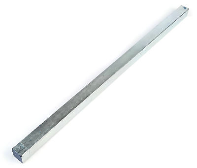 """Square Key Bar Stock Zinc Plated Steel A307 Grade 2 - Sizes 1/8"""" - 1/2"""" x 1 Foot"""