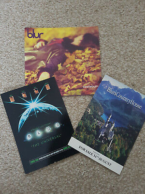 Blur promo postcards, Universal, Country House & Beetlebum