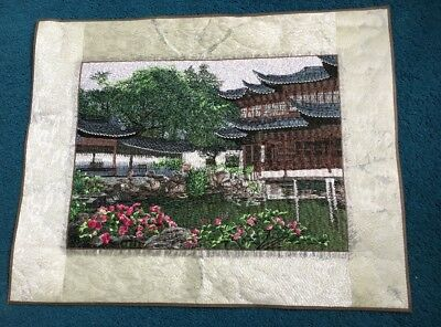 Chinese Hand Embroidery Stitch Landscape Wall Hanging