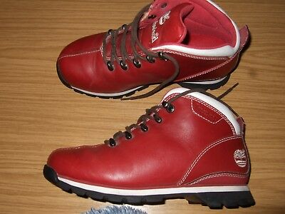Timberland Premium Boots Size 7m, Dark Red Leather - Ladies Boots