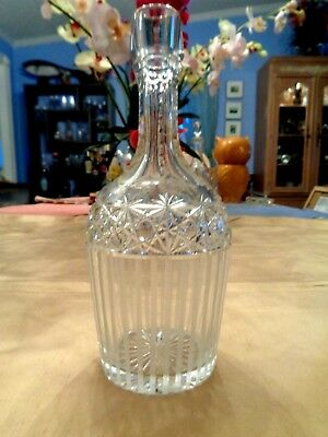 American Brilliant Cut & Etched & Frosted Decanter - No Stopper