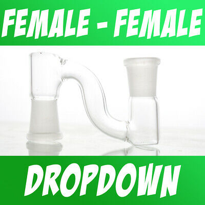 Scientific Lab Glass Dropdown Drop Down Adapter Female to Female 10mm 14mm 18mm