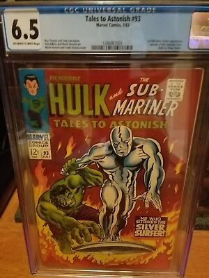 Tales to Astonish #93 CGC 6.5 1963  Silver Surfer Cover.