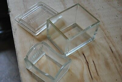 Lipshaw - Glass Staining Dish - Cover - 10 Slide Rack for Laboratory