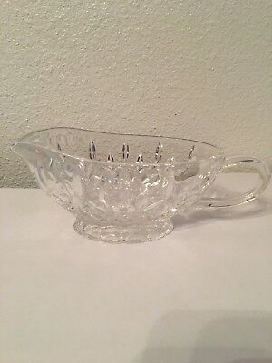 Beautiful Waterford Crystal Lismore Sauce / Gravy Boat