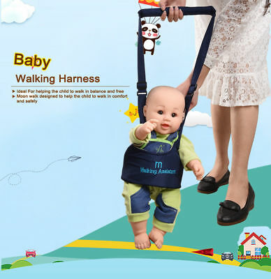 Kid's Safe Walking Handheld Baby Walker Helper Harness Protective Belt Assistant
