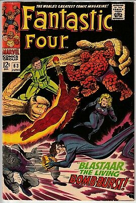 Fantastic Four #63 • Blastaar, the Living Bomb-Burst and Sandman join forces!