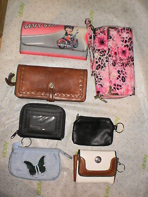 Lot of 7 ladies wallets and coin purses
