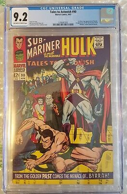 TALES TO ASTONISH 90 CGC 9.2 1st ABOMINATION 1967 1st SA BYRRAH Hulk Namor