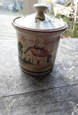 "Watcombe Torquay Pottery Condiment Jar ""give And Spend And God Will Send"""