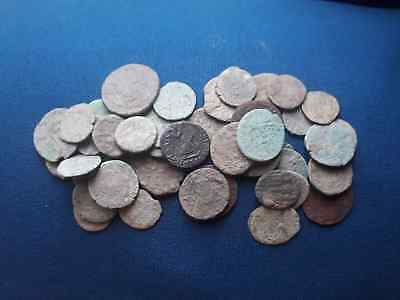 Lot of 44 Ancient Roman bronze coin