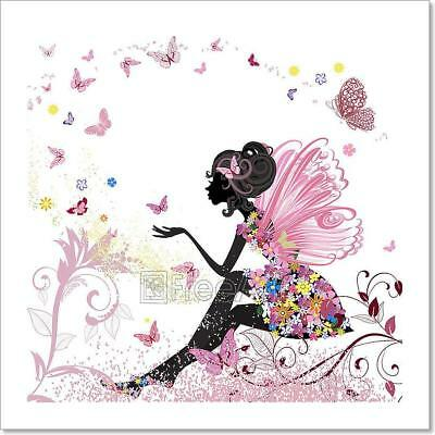 Flower Fairy In The Environment Of Art Print Home Decor Wall Art Poster - C