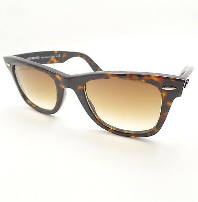 3e68065763 Ray Ban Wayfarer 2140 902 51 Tortoise Brown Fade New Authentic Sunglasses