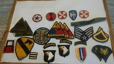 Military Patch Lot-- Ww2 & Vietnam// Airborne/armored/ Etc...