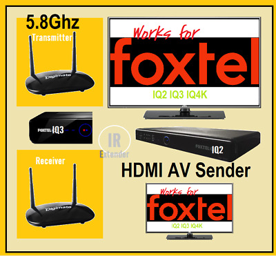 Digimate X700 5.8ghz HDMI Wireless AV Sender Receiver IR Extender Foxtel IQ2 3 4
