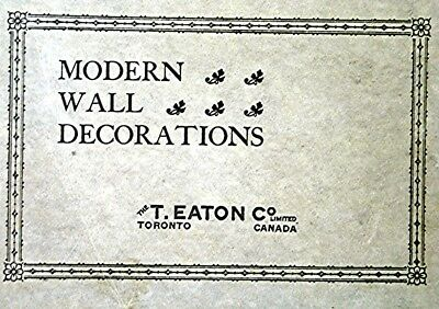 Vintage T. Eaton Modern Wall Decoration Advertising Booklet