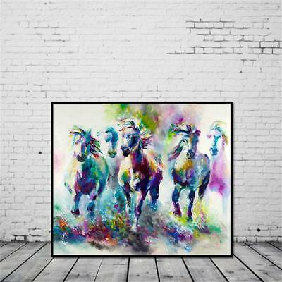 Frameless Huge Wall Art Oil Painting On Canvas Abstract Horse Animal Home Decor