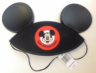 Walt Disney World Mickey Mouse Ears Hat - Adult Size Black (embroidery removed)