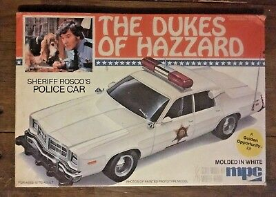Vintage MPC The Dukes of Hazzard Sheriff Rosco's Police Car BOX ONLY