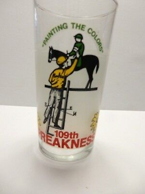 Vintage 1984 109TH  PREAKNESS PIMLICO  Horse Racing Glass    EUC