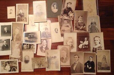 Vintage, Cabinet Photo's Lot (30) Variety Of Subjects & Localities ,l#4